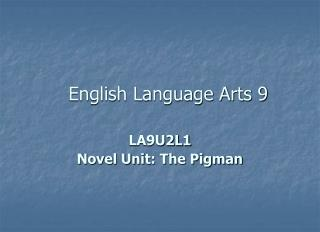 English Language Arts 9