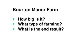 bourton manor farm