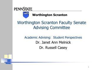 Worthington Scranton Faculty Senate Advising Committee
