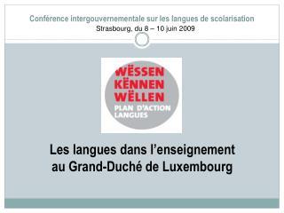 Conf rence intergouvernementale sur les langues de scolarisation