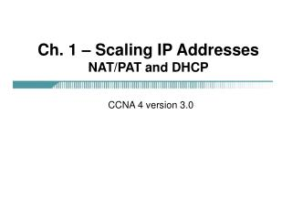 ch. 1   scaling ip addresses nat