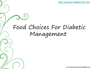 food choices:  diabetic management