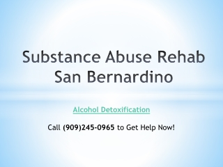 Substance Abuse Rehab San Bernardino