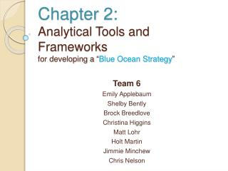Chapter 2: Analytical Tools and Frameworks for developing a  Blue Ocean Strategy
