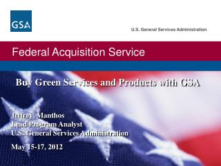 Buy Green Services and Products with GSA
