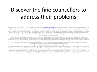 Anxiety Counseling