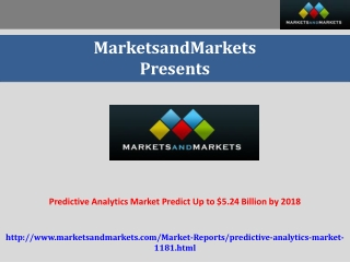 Predictive Analytics Market worth $5.24 Billion by 2018
