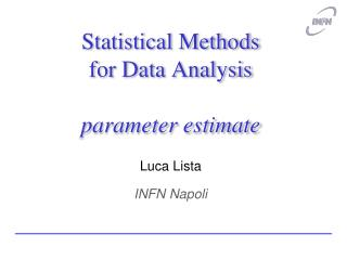 Statistical Methods for Data Analysis  parameter estimate