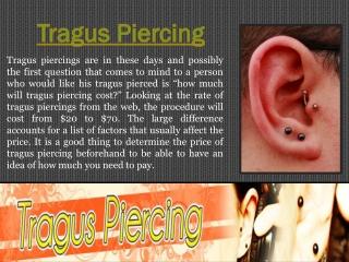 Tragus Jewelry
