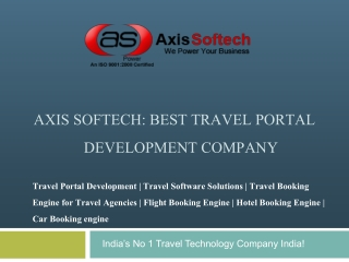 Axis-Softech - Travel Portal Development