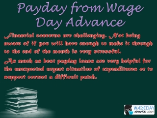 Online payday service of money