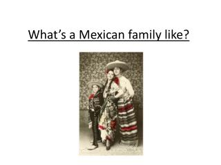 What s a Mexican family like