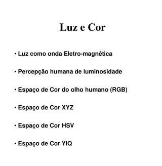 Luz e Cor