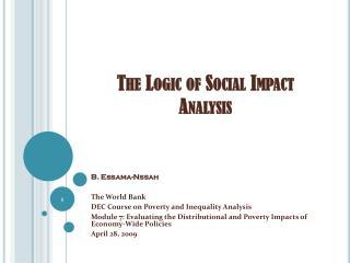 the logic of social impact analysis