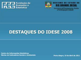Centro de Informa  es Estat sticas N cleo de Indicadores Sociais e Ambientais