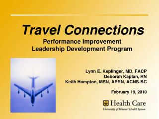 Travel Connections  Performance Improvement Leadership Development Program