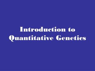 quantitative inheritance