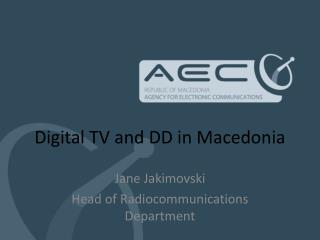 Digital TV and DD in Macedonia