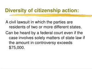 Diversity of citizenship action: