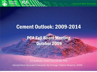 cement outlook: 2009-2014