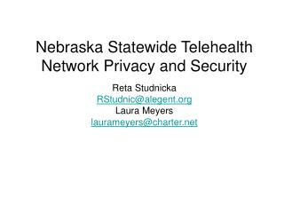 nebraska statewide telehealth network privacy and security