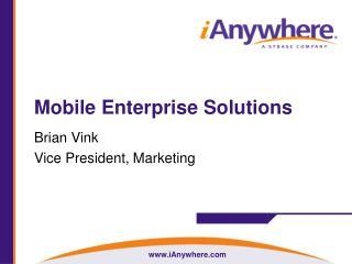 Mobile Enterprise Solutions