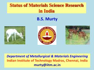 Status of Materials Science Research  in India