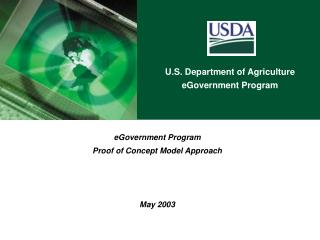 EGovernment Program Proof of Concept Model Approach    May 2003
