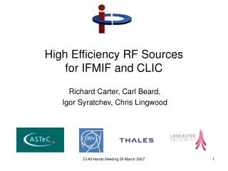 High Efficiency RF Sources  for IFMIF and CLIC