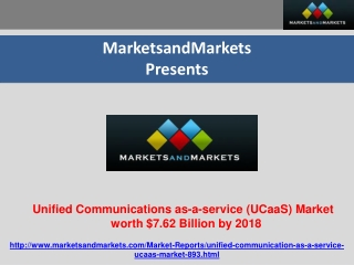 Unified Communications as a Service Market