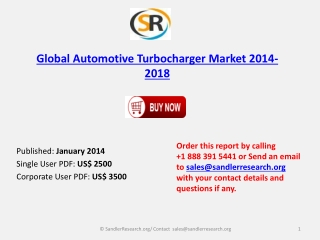 Global Automotive Turbocharger  Market 2014 -2018 Global Res