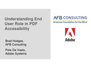 Understanding End User Role in PDF Accessibility