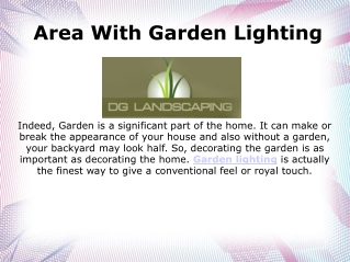 Garden lighting Perth