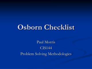 Osborn Checklist