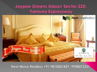 Jaypee Greens Udaan Sector 22D Yamuna Expressway