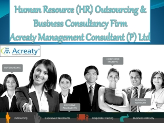 Human Resource (HR) Outsourcing