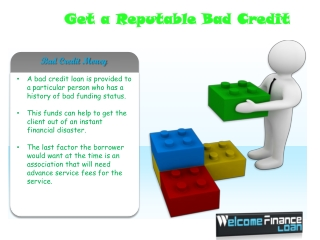 Bad Credit Loans An Instant cash option for Bad Creditors