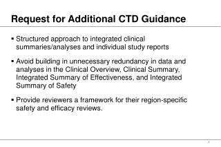 request for additional ctd guidance