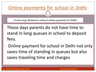 we provide online payment for school in delhi