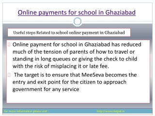 we facilities provide online payment for school in ghaziabad