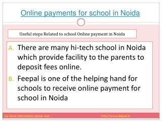 feepal provide online payment for school in noida
