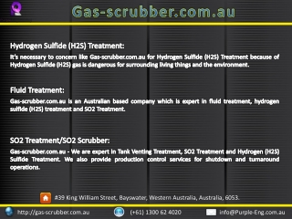 Hydrogen Sulfide (H2S) Treatment