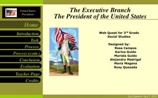 The Executive Branch The President of the United States