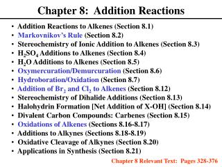 chapter 8:  addition reactions