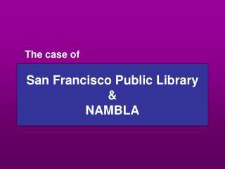 San Francisco Public Library  NAMBLA