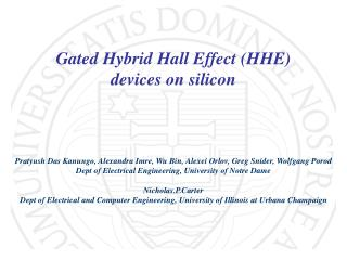 Gated Hybrid Hall Effect HHE devices on silicon