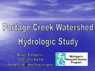 Portage Creek Watershed Hydrologic Study