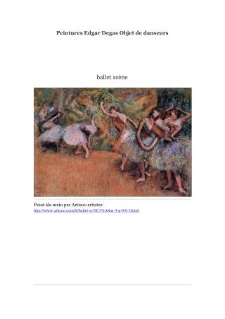 Peintures Edgar Degas Objet de danseurs -- Artisoo