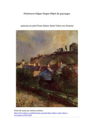 Peintures Edgar Degas Objet de paysages -- Artisoo