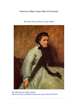 Peintures Edgar Degas Objet de Portraits -- Artisoo